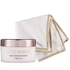 Josie Maran Argan Cleansing Treatment + Cloth: Shop Face Treatments & Serums | Sephora
