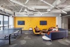 Radius Lounge from Davis Furniture in the Rocket Fuel Chicago Offices - designed by Partners by Design