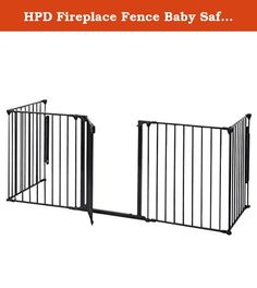 "HPD Fireplace Fence Baby Safety Fence Hearth Gate BBQ Metal Fire Gate Pet Dog Cat. This Is Our Fireplace Fence Baby Safety Fence,Which Will Provides A Very Safe Environment For Your Child,Dog And Cat. It Will Prevent Them Into Places They Aren't Allowed Like A Fireplace Or Any Other Non Kids Friendly Area. What's More, It Is Easy To Set Up In Non-Frustration. Specifications: Material : Steel+Plastic Individual Panels: 24"" X30"" Overall Gate Width: 120"" Overall Gate Height 30"" Door..."