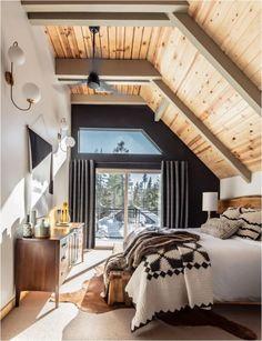 Chalet Design, Cabin Design, Design Design, Modern Design, A Frame Cabin, A Frame House, Cabin Homes, Cheap Home Decor, Bedroom Decor