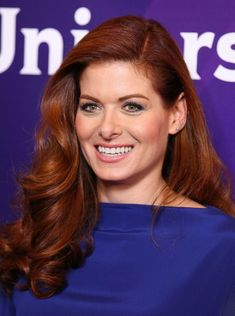 Debra Messing's long red hair