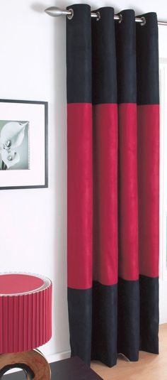 Shower Curtain Black Red