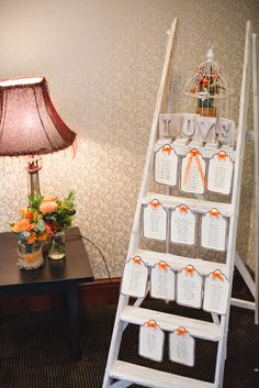 Ladder table plan Wedding at Emlyn Hotel by Whole Picture