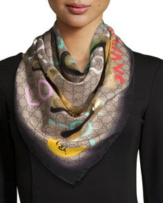 Silk Square Scarf - Light Delight by VIDA VIDA IGEetY