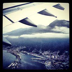 Just leaving Venezuela - @Maiquetia Simon Bolivar Intl airport - over La Guaira Port April 4th 2012