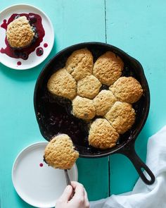 Just short of eating a fruit by hand, a summer cobbler is on the short list of stunningly simple desserts. In this rendition, blueberries are cooked with both lemon and orange zest, and lightly spiced with nutmeg before being topped with fluffy whole-wheat biscuits.