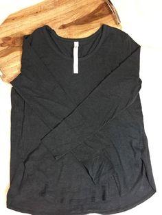 Lululemon Devotion Long Sleeve Shirt Size 10 Black Pima Cotton Lycra   | eBay