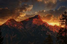 Paisagem, Montanhas, Doze Cabeça, Vorarlberg, Céu