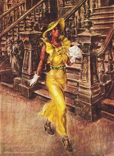 """High Yaller"", 1936 //  by Reginald Marsh"