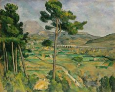 Paul Cezanne - Mont Sainte–Victoire and the Viaduct of the Arc River Valley, 1885