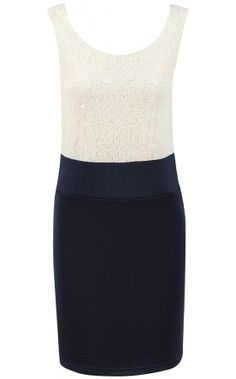 £24.00    http://www.pussycatlondon.com/latest-fashion-clothing-1/cream-navy-lace-2in1-dress.html?color=Cream=8