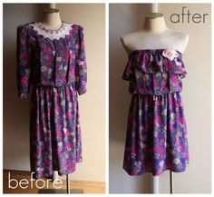 Sundress or Bathing suit cover-up refashioned from out-of-date dress.
