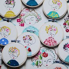 Getting ready for Holidays. I have more bazaars I will attend. I will keep u all posted. #embroidery #embroideryhoop #elenacaron #homedecor #handmade #textiledesign by elenacaron_artist