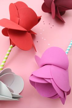 How to make foam heart flowers - kids crafts — The creative pair