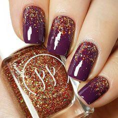 autumn nails 54 Stylish Fall Nail Designs and Colors Youll Love fall nails glitter - Fall Nails Fancy Nails, Love Nails, Pink Nails, Pretty Nails, My Nails, Hair And Nails, Color Nails, Gradient Nails, Fall Nail Art Designs