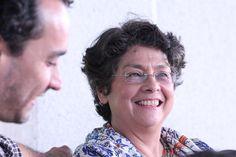 #Política La profesora margarita López Maya intervino en un foro el sábado 13 de junio de 2015 y de repente capté su hermosa sonrisa. Foto @rebotero