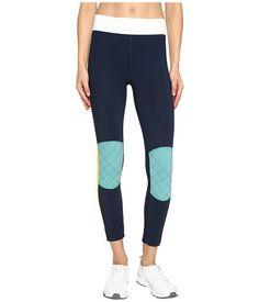 No Ka'oi Kuke Leggings In Saffron/aloe/ice/marine Ankle Length Leggings, Blue Leggings, Blue Pants, Athletic Dresses, Casual Pants, Women's Casual, Slim Fit Pants, Workout Leggings, Sweatpants