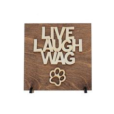 Dog Sign Decor - Laser Cut Wood Sign - Birch Wood