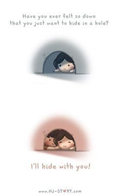 HJ Story - I'll hide with you! See more of HJ-Story at:. Hj Story, Lol So True, True Love, Cute Love Stories, Love Story, Ah O Amor, Chibird, Love Facts, Cute Love Cartoons