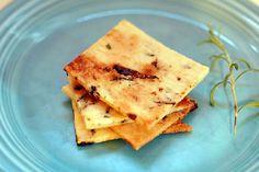 Sugar Free Paleo Rosemary Crackers