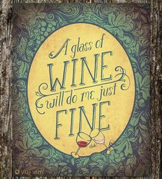 Glass of Wine Art Print by Sarah Watts on Scoutmob Shoppe