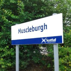 I love the additional signs that scotrail has been putting up at the stations for the games. We've got ours... we're now officially Muscleburgh! ;) #musselburgh #scotrail #bitoffun