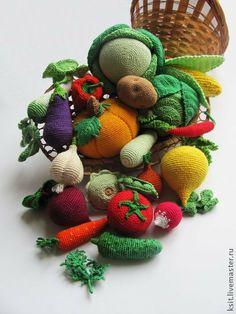 Еда ручной работы. Ярмарка Мастеров - ручная работа Вязаные овощи. Handmade.
