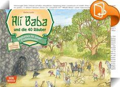 """Ali Baba und die 40 Räuber    ::  Mit diesem Bildkartenset für das Kamishibai erzählen die Kinder das Märchen """"Ali Baba und die vierzig Räuber"""" aus """"Tausendundeiner Nacht"""". Im extragroßen DIN-A3-Format! """"Iftah ya simsim. Sesam, öffne dich!"""" Ali Baba hat ein großes Geheimnis entdeckt. Er weiß, mit welchem Zauberspruch sich die große Räuberhöhle öffnet. Und weil Ali Baba ein bescheidener Mann ist, nimmt er nur einen einzigen Sack mit Goldstücken und beschließt, das Geheimnis seines Reich..."""