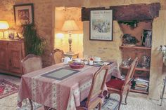 FRENCH Photography  A rustic diningroom in by ElizabethThomasPhoto #french #rustic #quaint #decor #diningroom #france #travel #europe