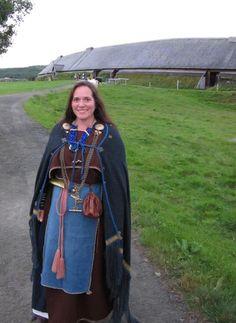Female reenactor at Lofotr Viking Center.