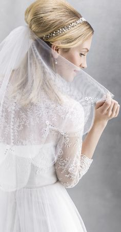 Veils are the perfect match for the popular tattoo dress backs which are all the rage! (2885)