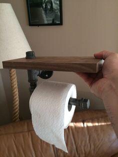Pallet shelf,toilet paper holder. | Made by me. | Pinterest | Pallet ...
