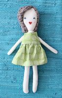rag doll tutorial & template, including dress pattern