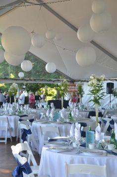 Niki & Dave's  wedding tent