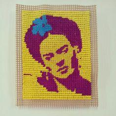 Frida Tapestry, (Needlepoint) 7.5cm x 11cm - Alex Hamilton