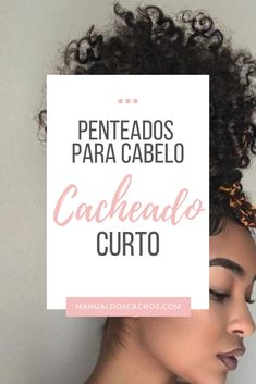 Hairstyles for Short Curly Hair - Curls Manual - - 3b Curly Hair, Curly Hair Types, Bridesmaid Hair, Prom Hair, Curled Hairstyles, Cool Hairstyles, Curly Hair Tutorial, Short Afro, Hair Day