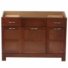 Glacier Bay Casual 48 in. W x 21 in. D x 33.5 in. H Vanity Cabinet Only in Cognac-CACO48DY - The Home Depot