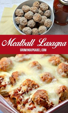 Frozen meatballs are the trick to getting this easy lasagna recipe on the dinner table in just over 30 minutes! recipes easy frozen Quick and Easy Lasagna Recipe with Frozen Meatballs Frozen Meatball Recipes, Chicken Meatball Recipes, Beef Recipes, Cooking Recipes, Italian Recipes, Cheap Recipes, Healthy Recipes, Recipes Using Meatballs, Crock Pot Meatballs