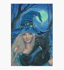 Witch Halloween Archival Art Print Illustration by Jannafairyart Halloween Painting, Halloween Art, Halloween Witches, Fantasy Kunst, Fantasy Art, Wicca Kunst, Witch Pictures, Wiccan Art, Witch Tattoo