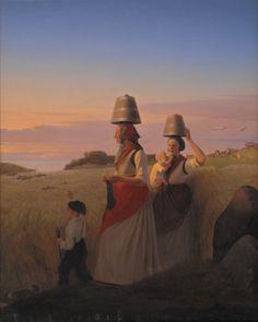 "Jørgen Sonne (1801-90), ""Landlig scene"", 1848.  Statens Museum for Kunst / National Gallery of Denmark. http://www.smk.dk/index.php?id=1179"