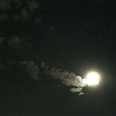 Super moon with a cloud tail over Denver.  #supermoon #clouds #nofilter #denver #denverhighlands #colorado