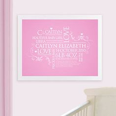 Personalised Baby Birth Announcement