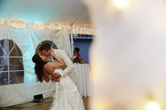 Dayna and Brandon in the Wedding Tent. First Dance.