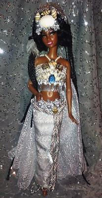 Yemoja-Yoruba-Diety-of-Ocean-Pregnant-women-Barbie-doll-OOAK-African-AA