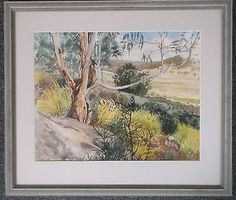 #Framed #watercolour painting signed ann kearon the australian #outback,  View more on the LINK: http://www.zeppy.io/product/gb/2/162179373167/