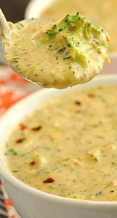 Broccoli and Cheese Soup - an easy sketch-free copycat of Panera's Broccoli Cheddar Soup!