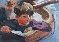 'Roger In The Boat' 2014 oil on wood, Swallows And Amazons, Painting & Drawing, Boat, Paintings, Drawings, Dinghy, Paint, Painting Art, Boats
