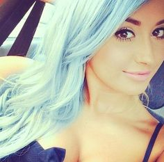 light blue hair | Hairstyles and Beauty Tips