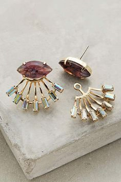 Ruhi Jacket Earrings - anthropologie.com [lol these are $148 and i don't think there's any way to diy them /sigh #expensivetaste]
