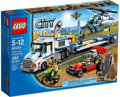 LEGO City Set #60049 Helicopter Transporter (673419207553) 382 pieces!